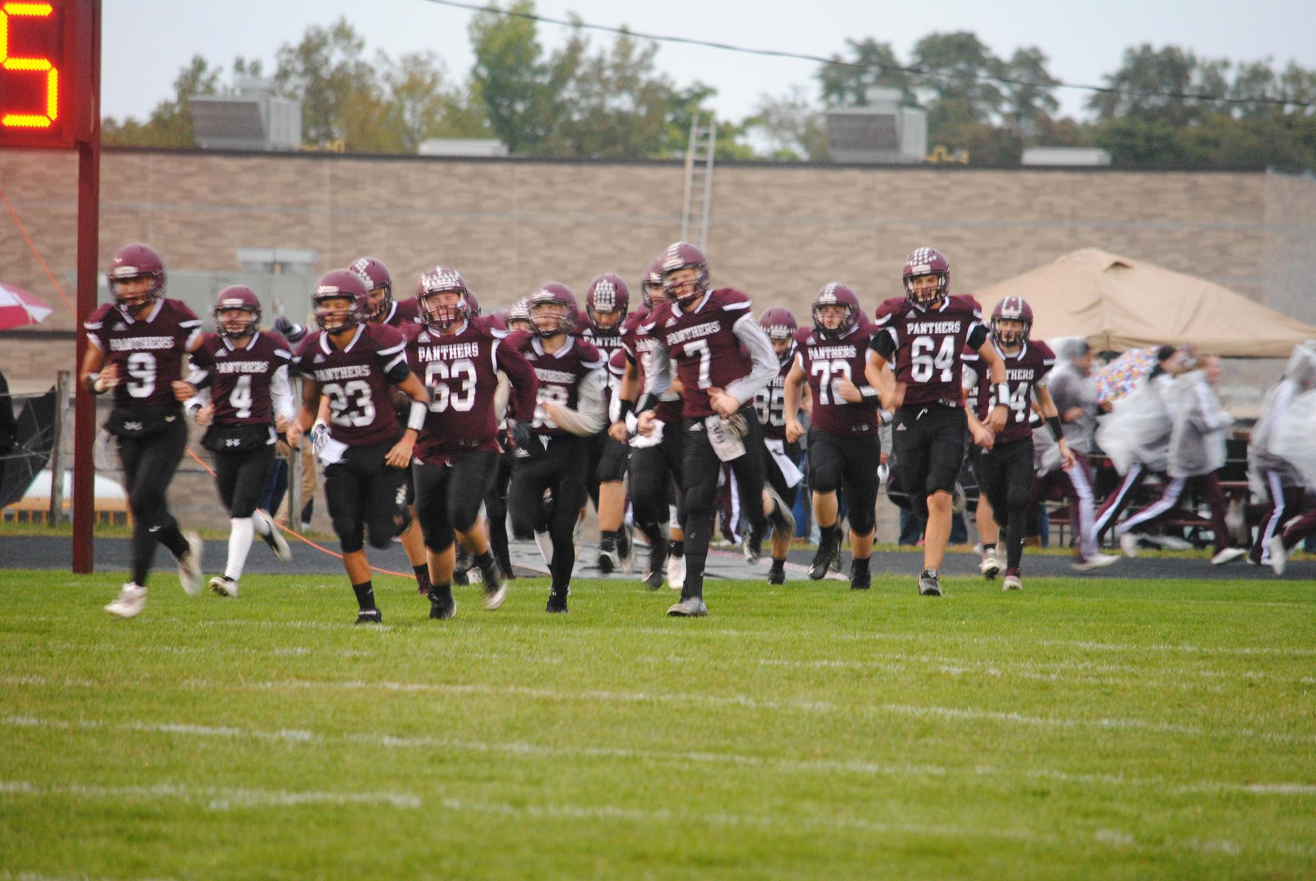 football team running