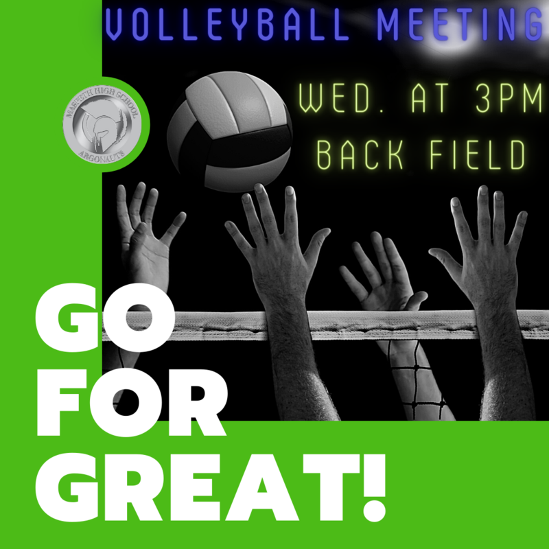 Volleyball Meeting April 7, 3:00 pm