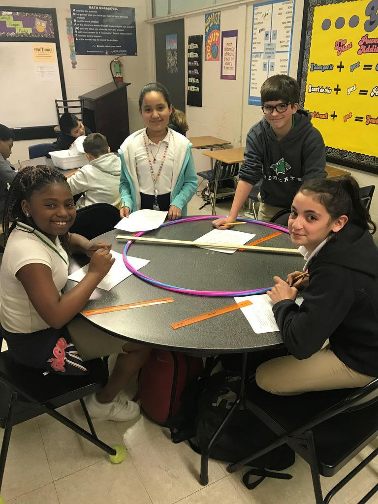 Students and Pi Day Activity