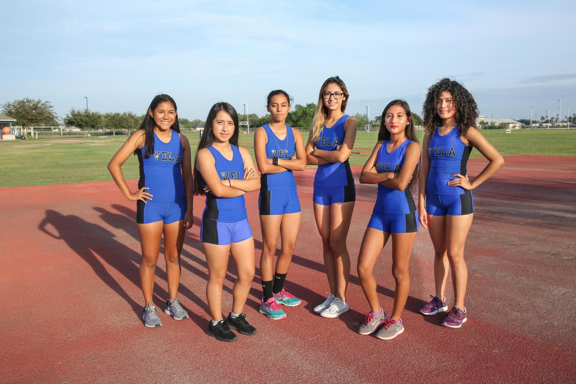 Image of: JV TEAM: Angelisa Diaz, Marisol Ortega, Jasmin Sustaita, Kiara Villegas, Cristina Sanchez, Alaissa Garza