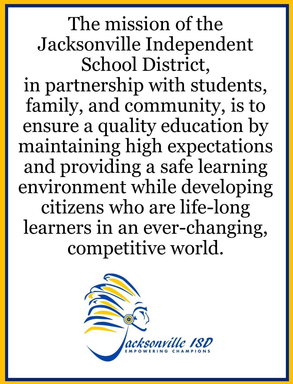 mission statement for jisd