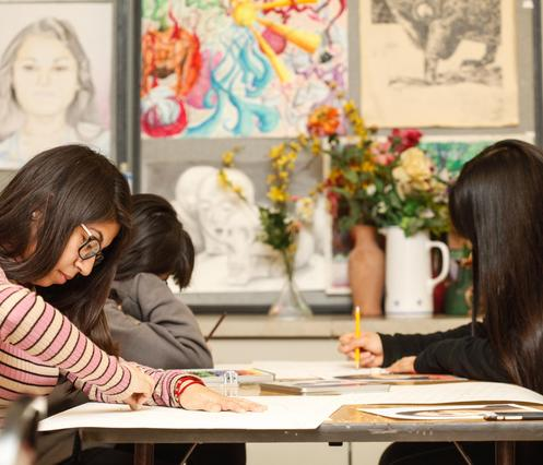 John Hancock College Prep students in Studio Art