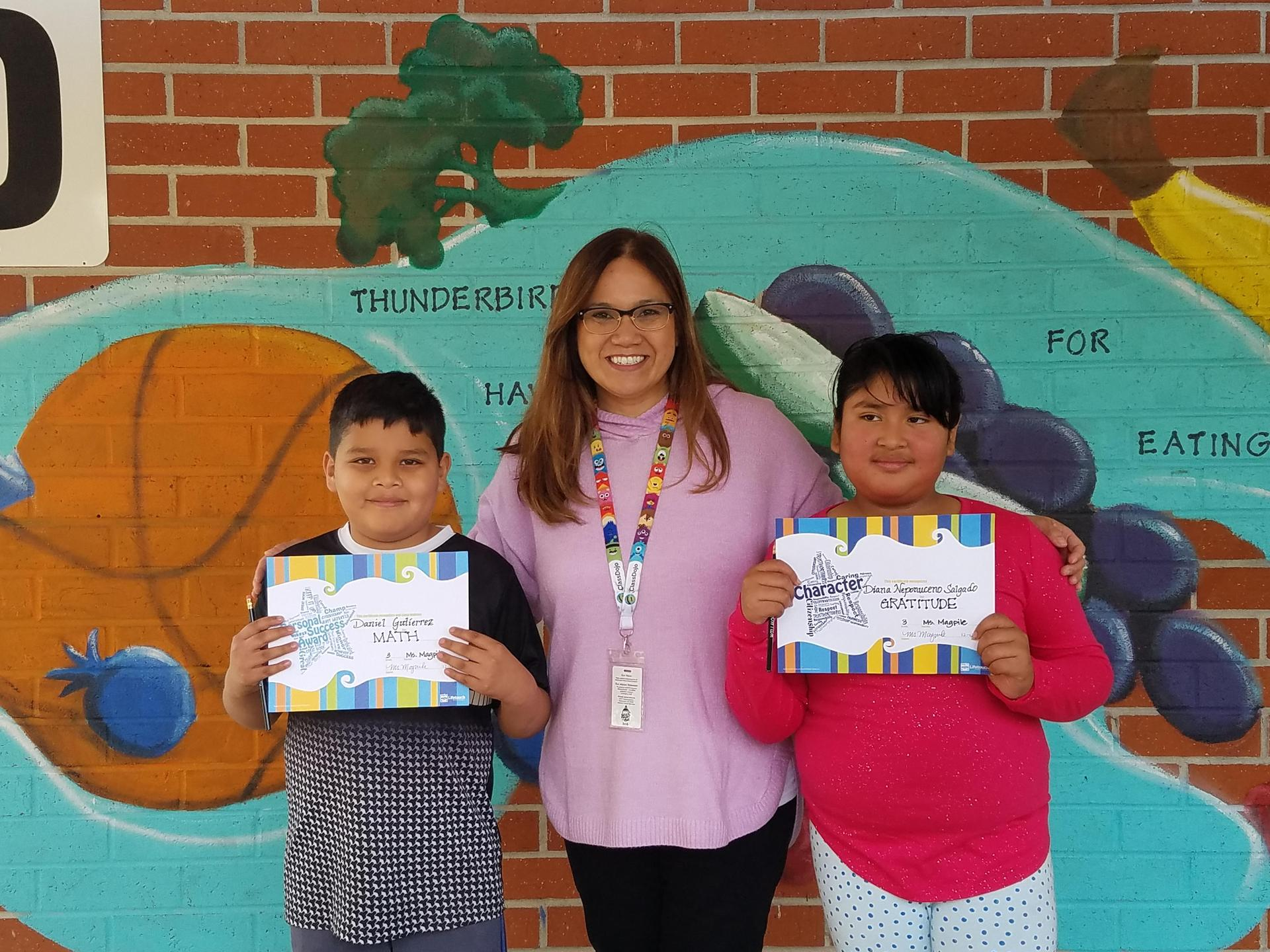 Ms. Magpile's 3rd Grade Winners
