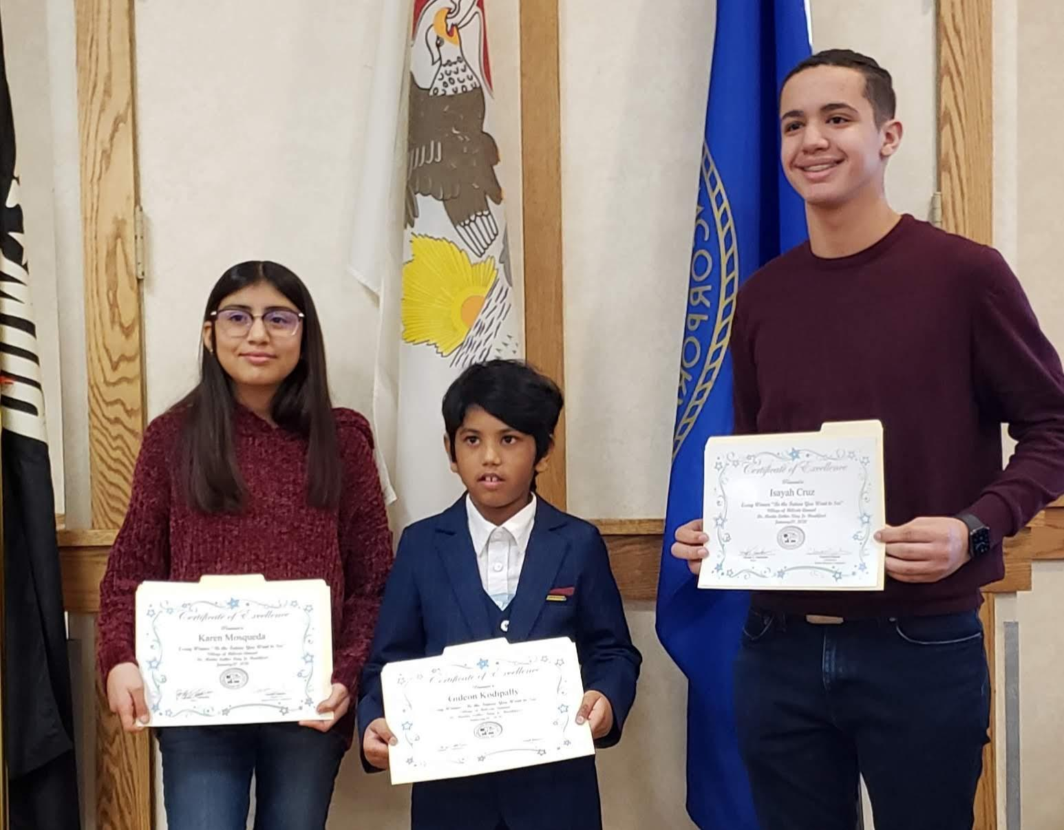 Congratulations to our Dr. Martin Luther King Essay contest winners!