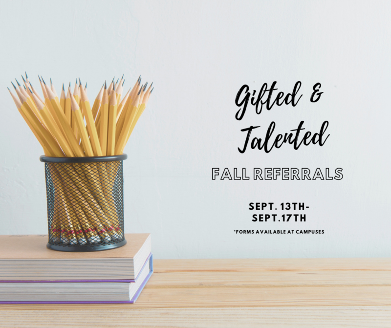 BISD Gifted & Talented Fall Referral Featured Photo