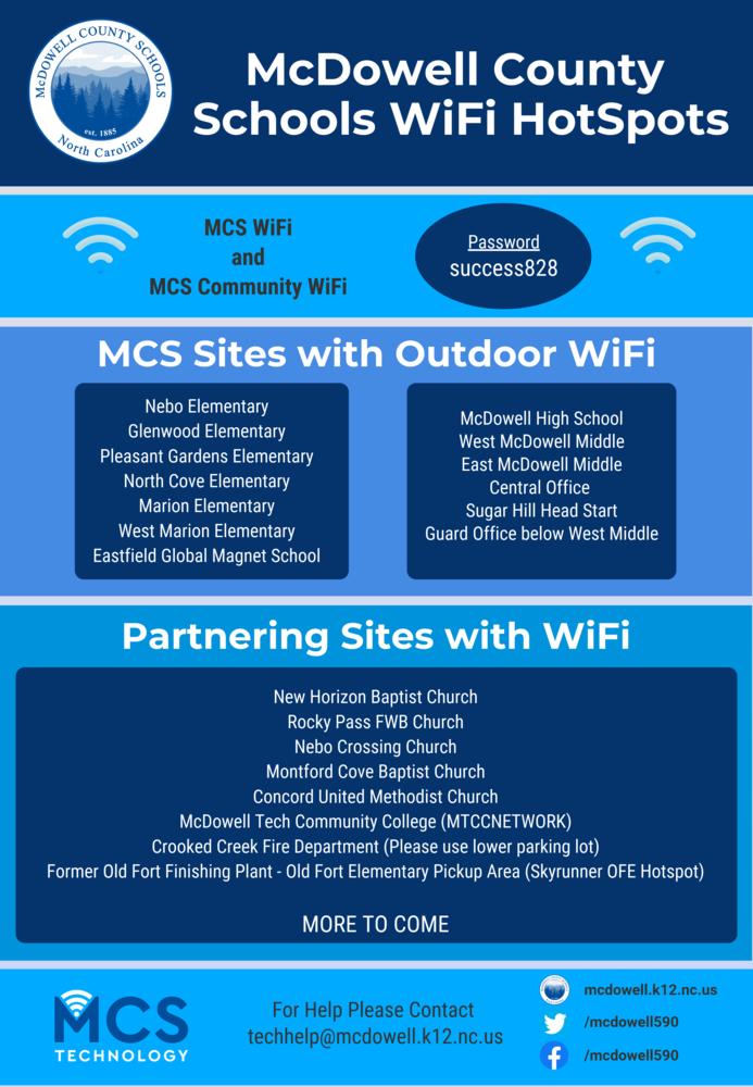 MCS WiFi Hotspots - Updated 4-6-2020