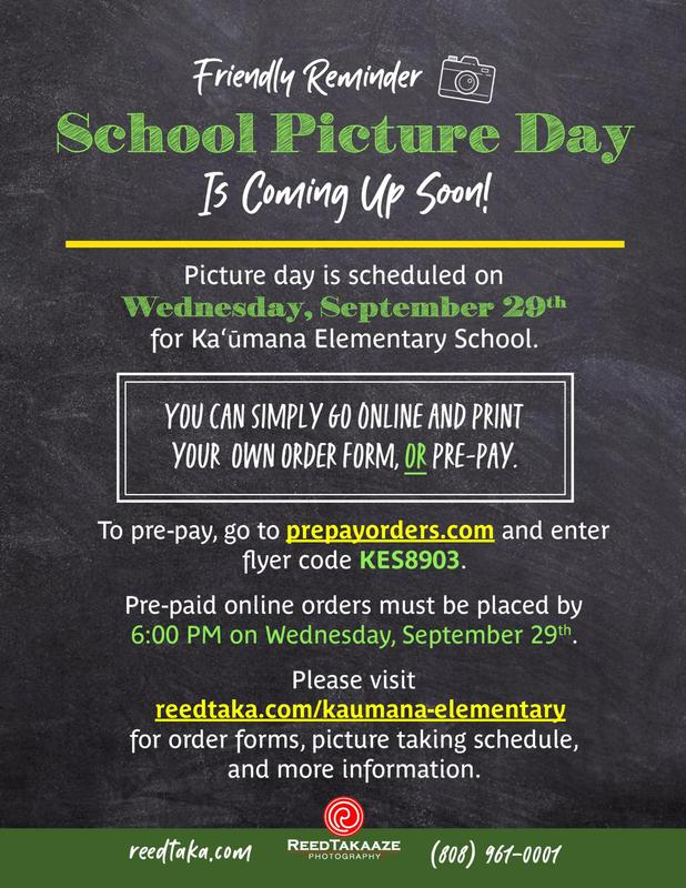 School Picture Day is September 29