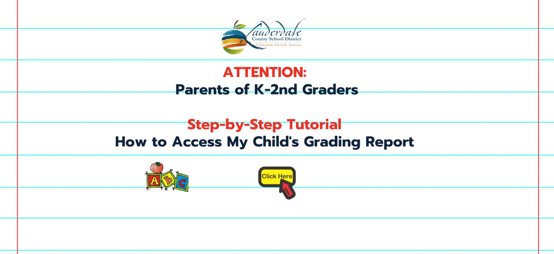 LCSD K-2nd Grade Report Access