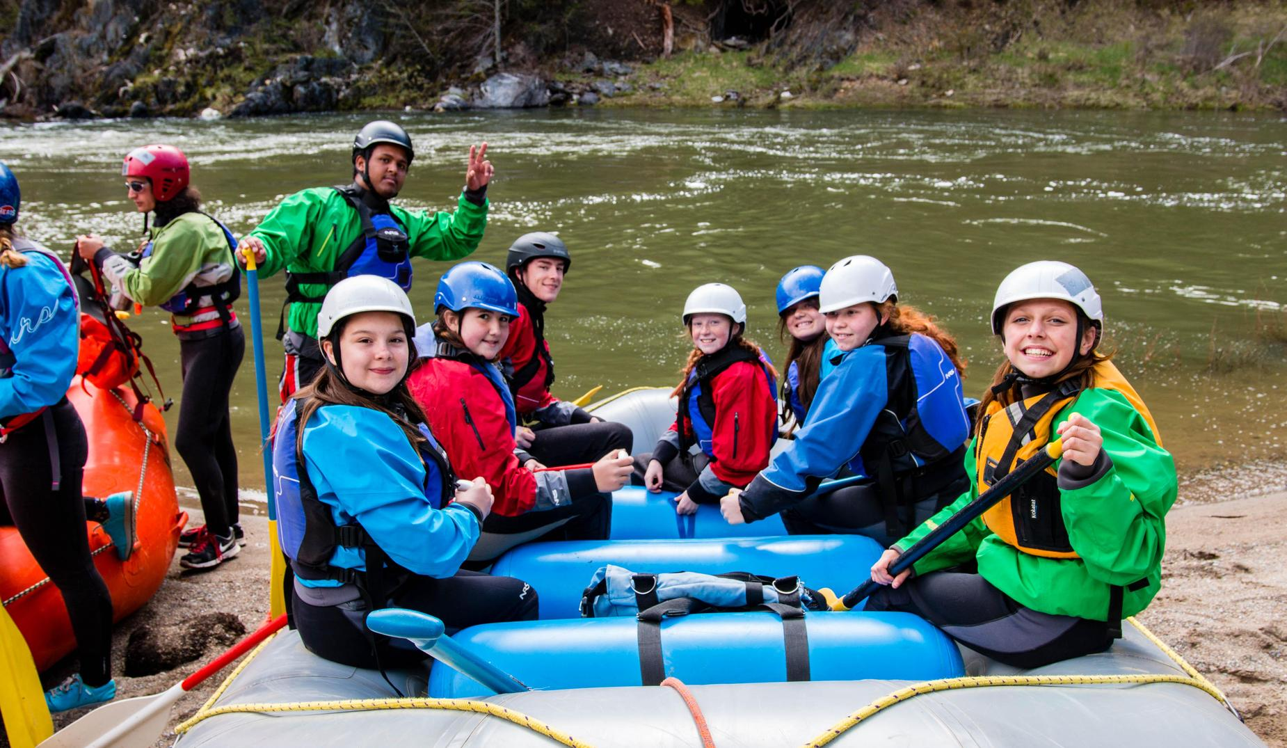 6th Graders Rafting