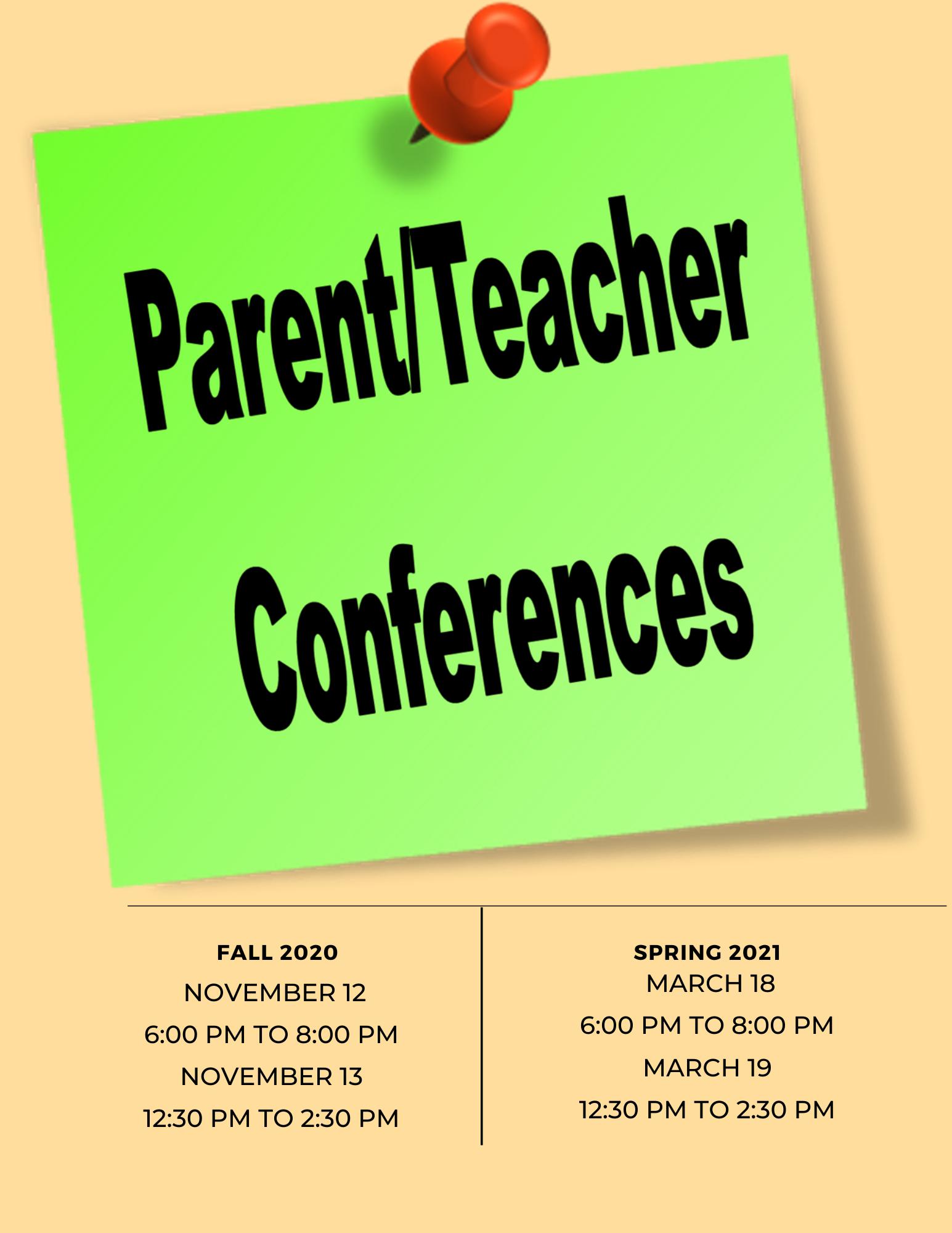 PARENT-TEACHER CONFERENCE DATES