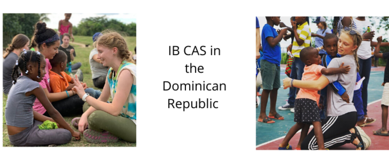 Bloomfield students playing with Dominican children