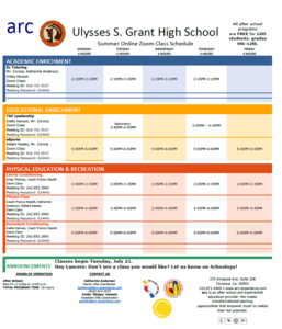arc_Program Calendar_Grant HS_July classes.png