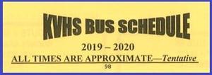 KVHS Bus Schedule