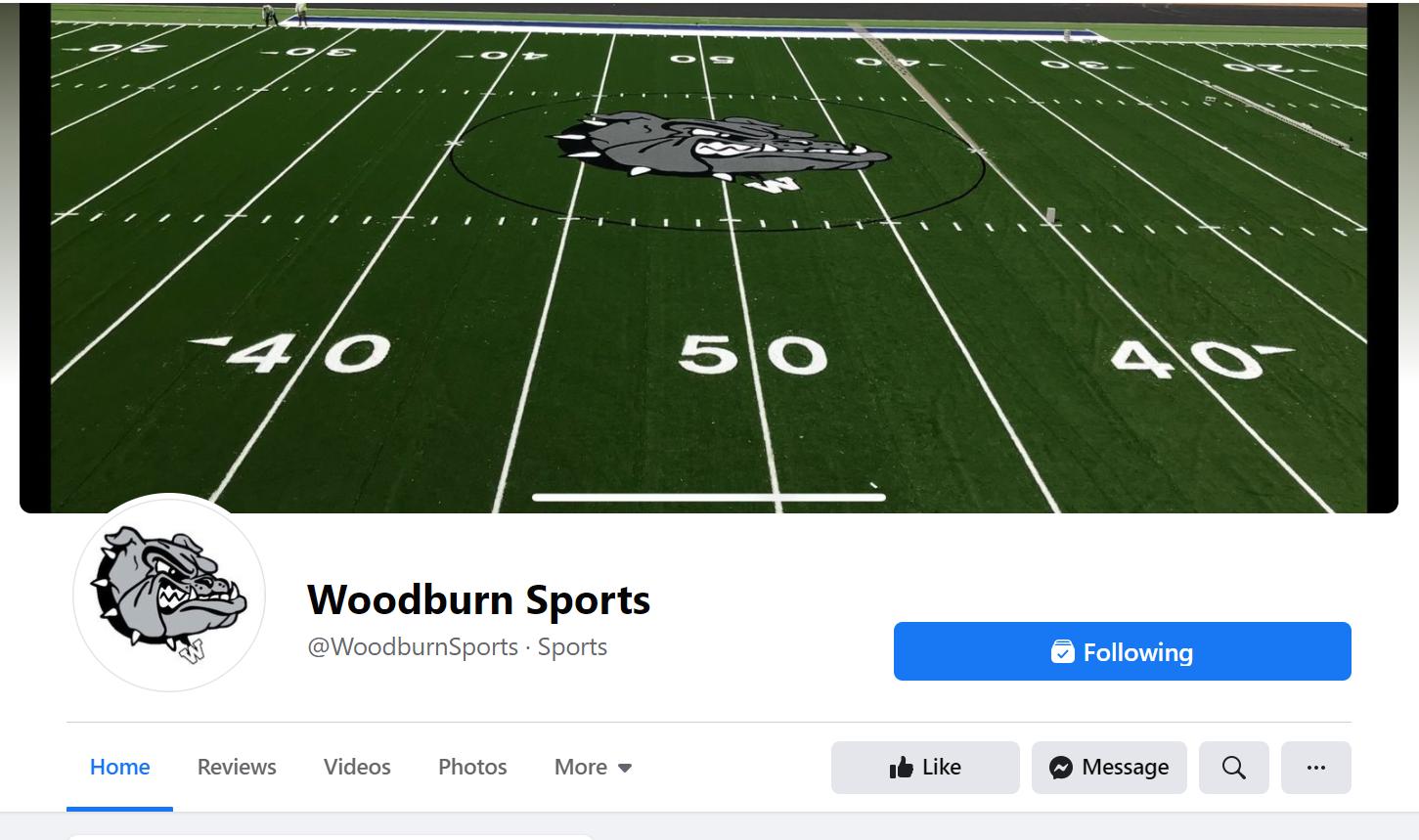 Follow us on Facebook @WoodburnSports