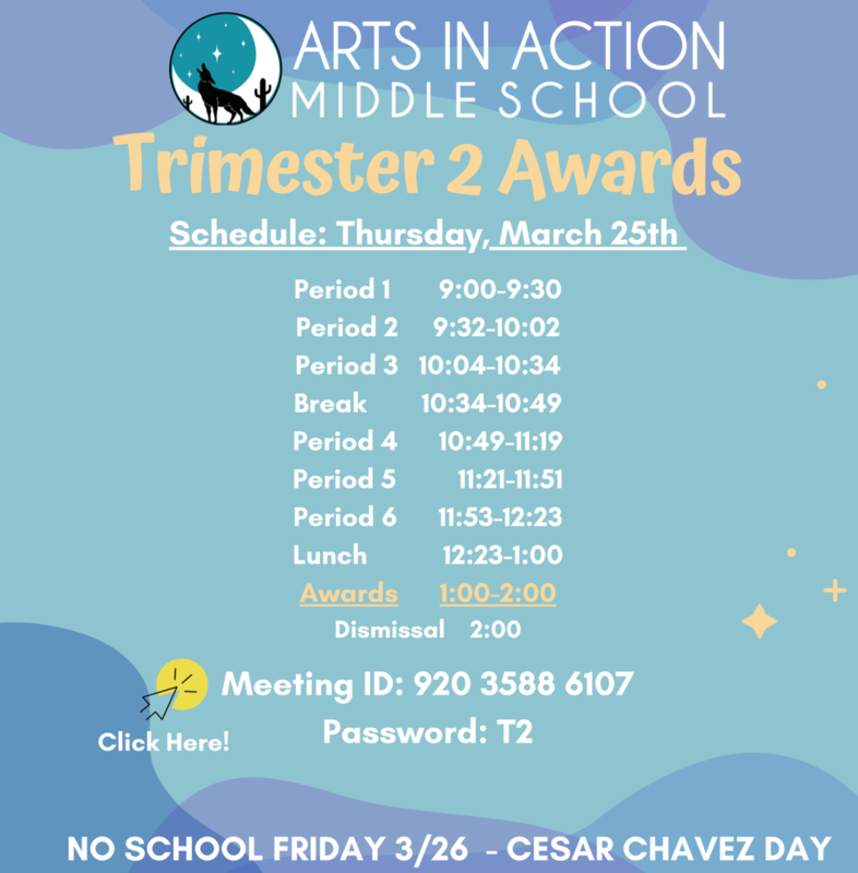 Middle School Trimester 2 Awards/ Premios del segundo trimestre de la escuela secundaria Thumbnail Image