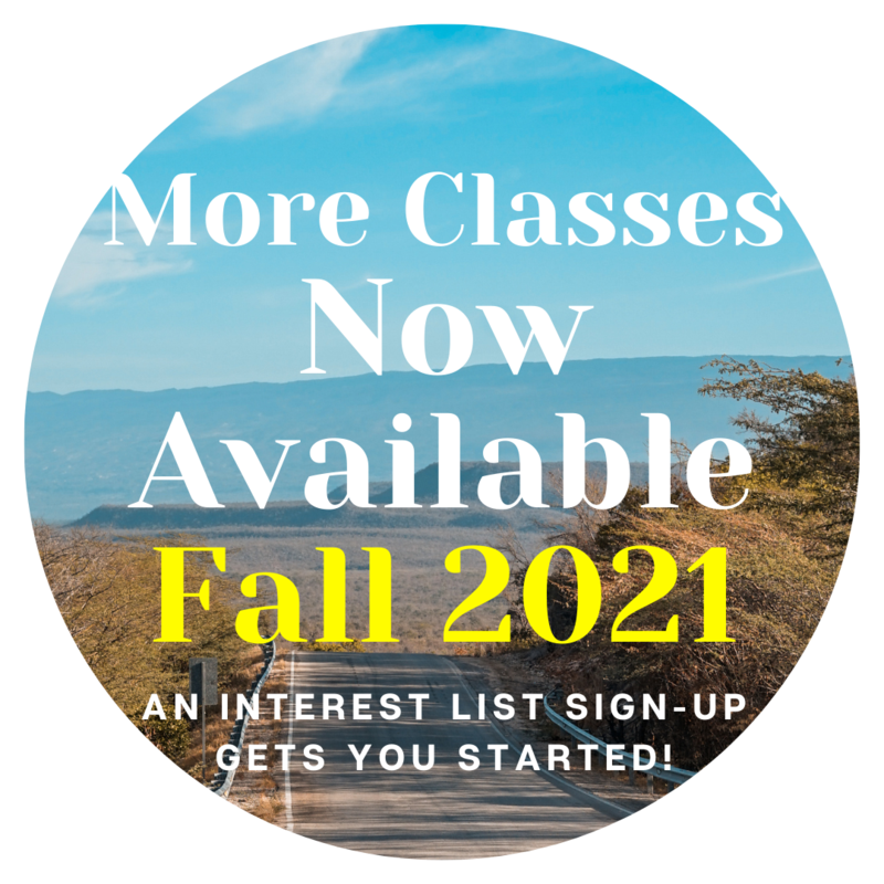 Announcing More Fall Classes