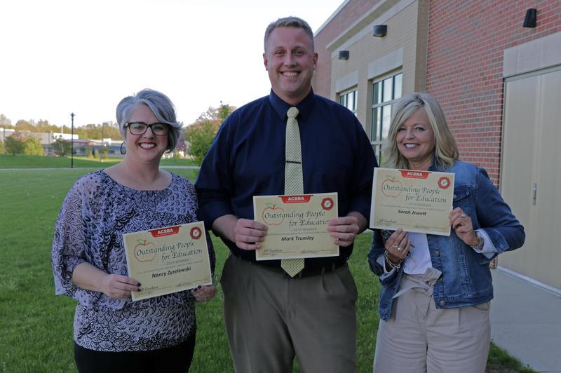 award winners Mrs. Z, Mr. Trumley and Mrs. Jewett
