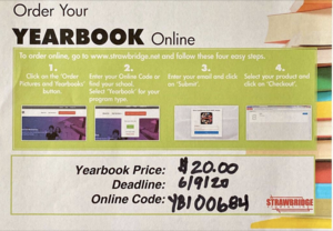 Yearbooks are on sale now