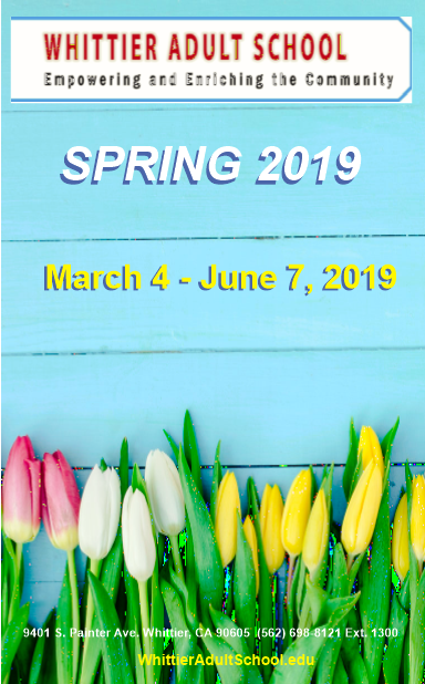 Spring 2019 Class Schedule Featured Photo