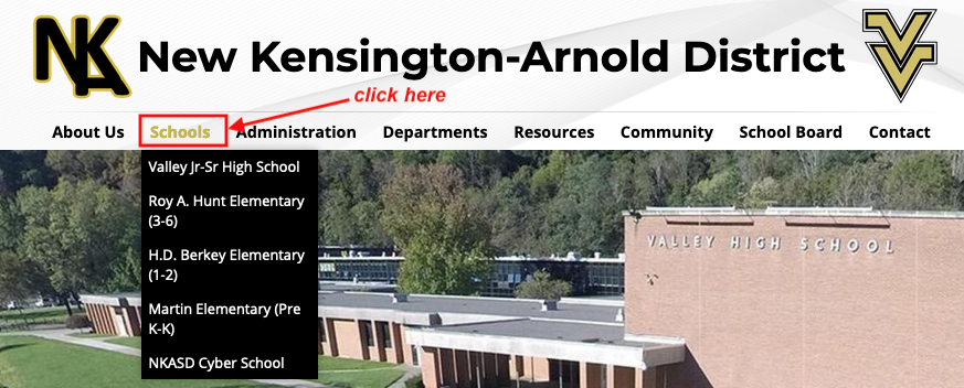click schools directions