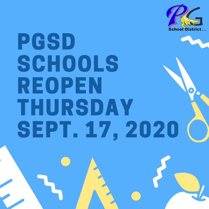 Schools reopen Thursday September 17, 2020