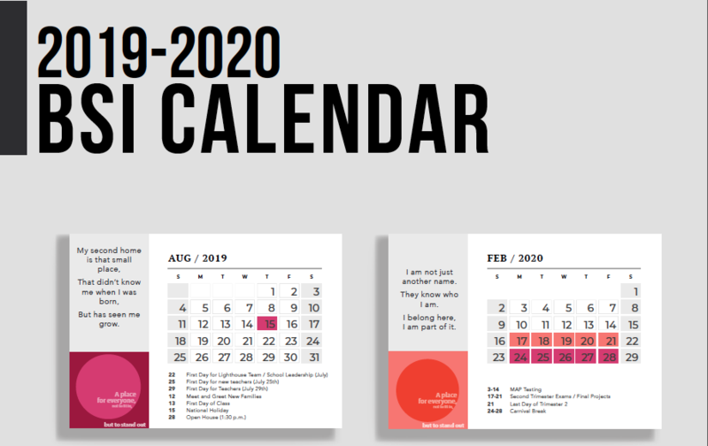 Calendar 2019 - 2020 Featured Photo