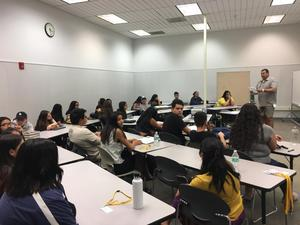 Students on their first day of the Dual Enrollment class with Mt. Sac