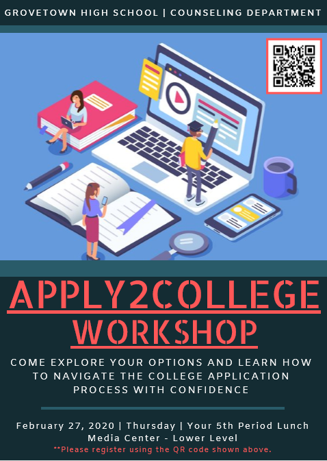 Apply2College Workshop - Registration Requested Featured Photo