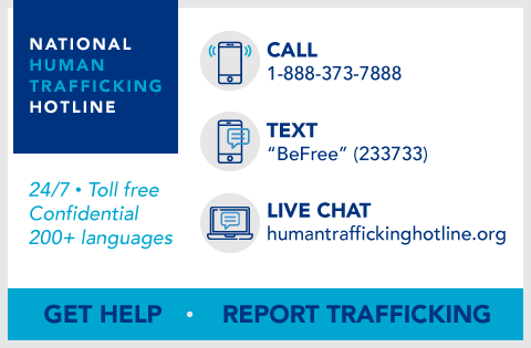 Human Trafficking Hotline Information