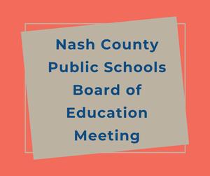 NCPS BOE Meetings
