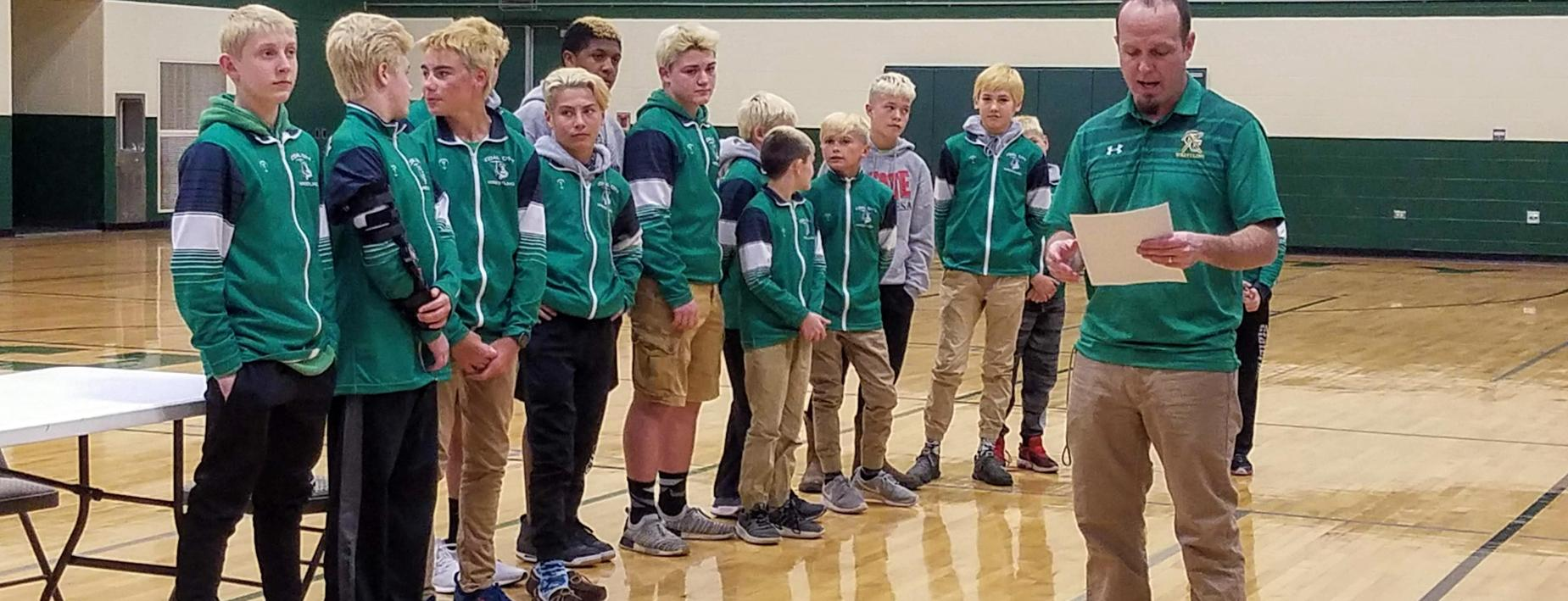 MS Wrestlers honored at Board Meeting