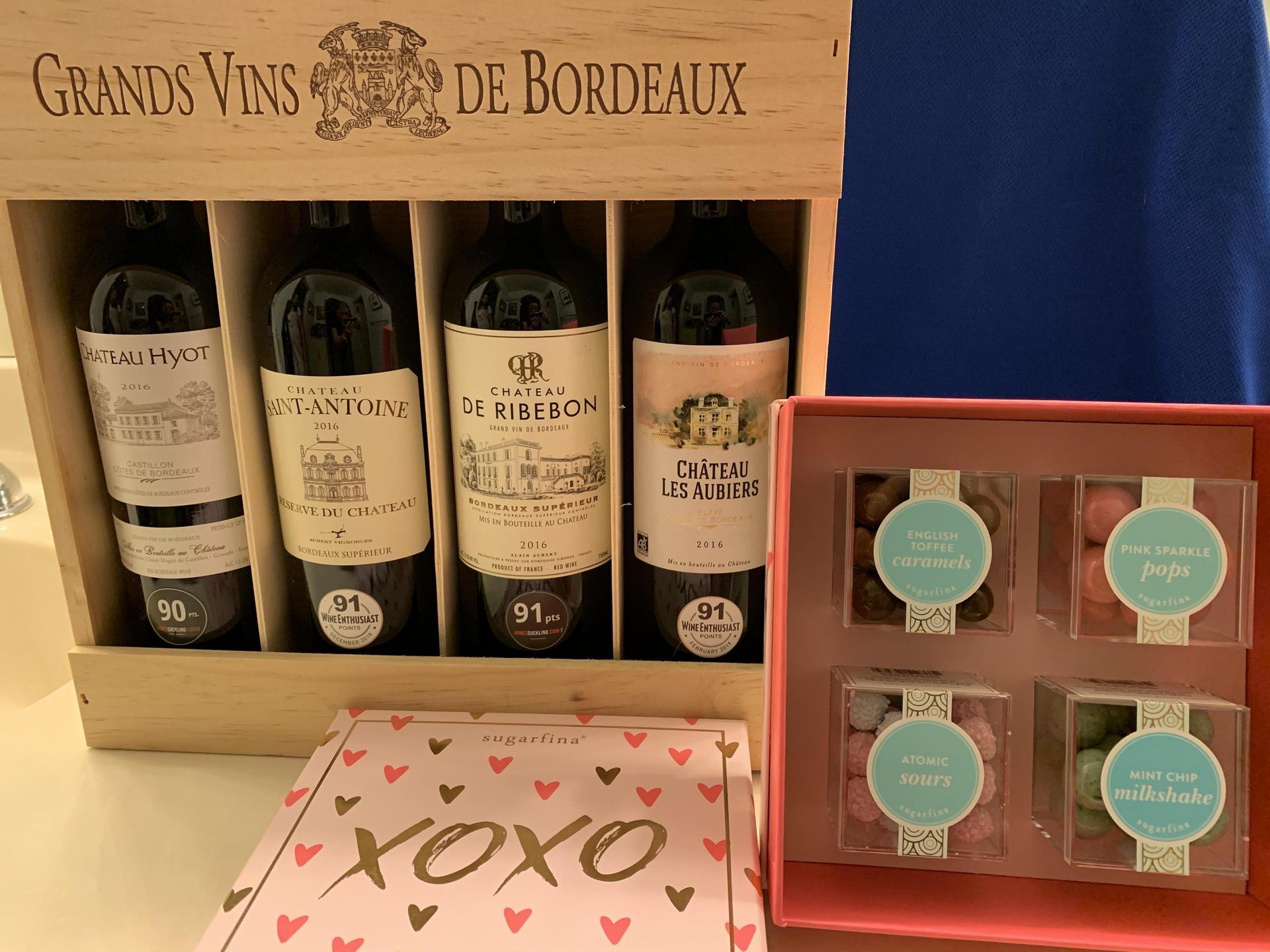 Bordeaux wine & Sugarfina