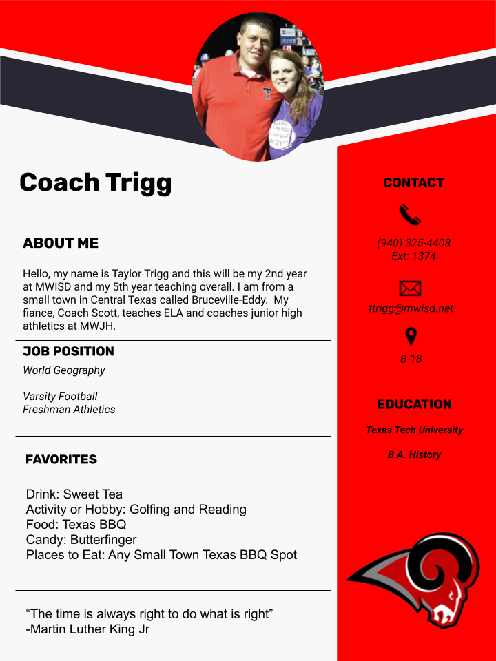 Coach Trigg - World Geography