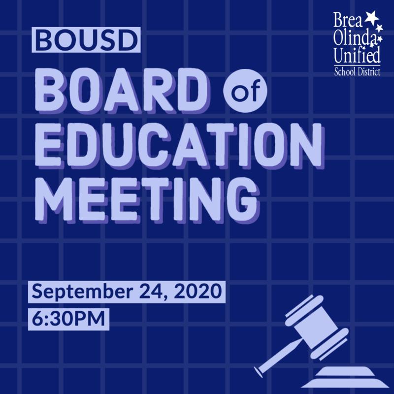 September 24, 2020 Regular Board Meeting Graphic