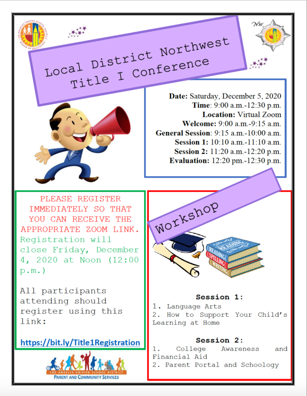Local District Northwest Title I Conference Featured Photo