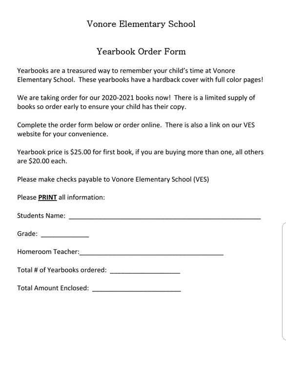 Yearbook Form