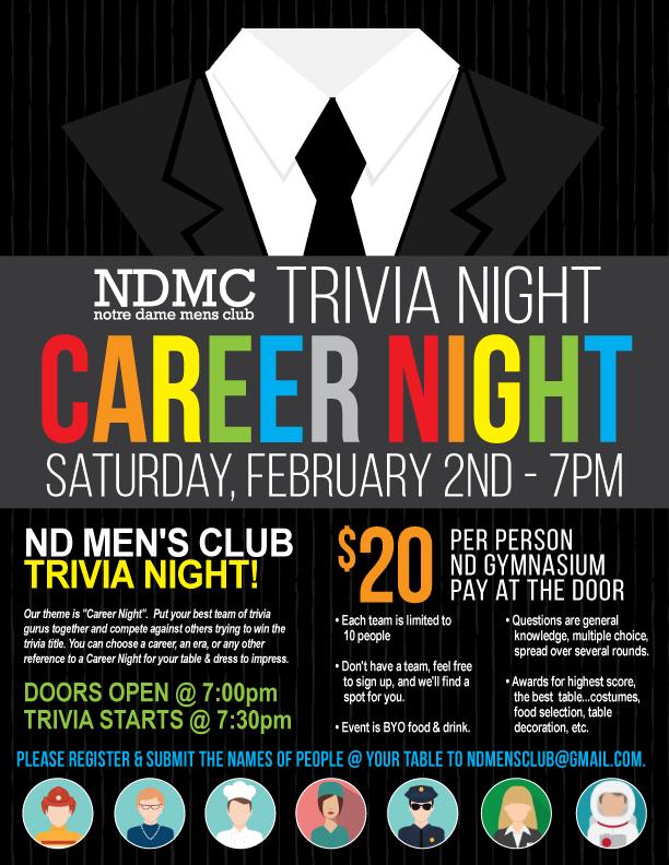 Men's Club Trivia Night Thumbnail Image