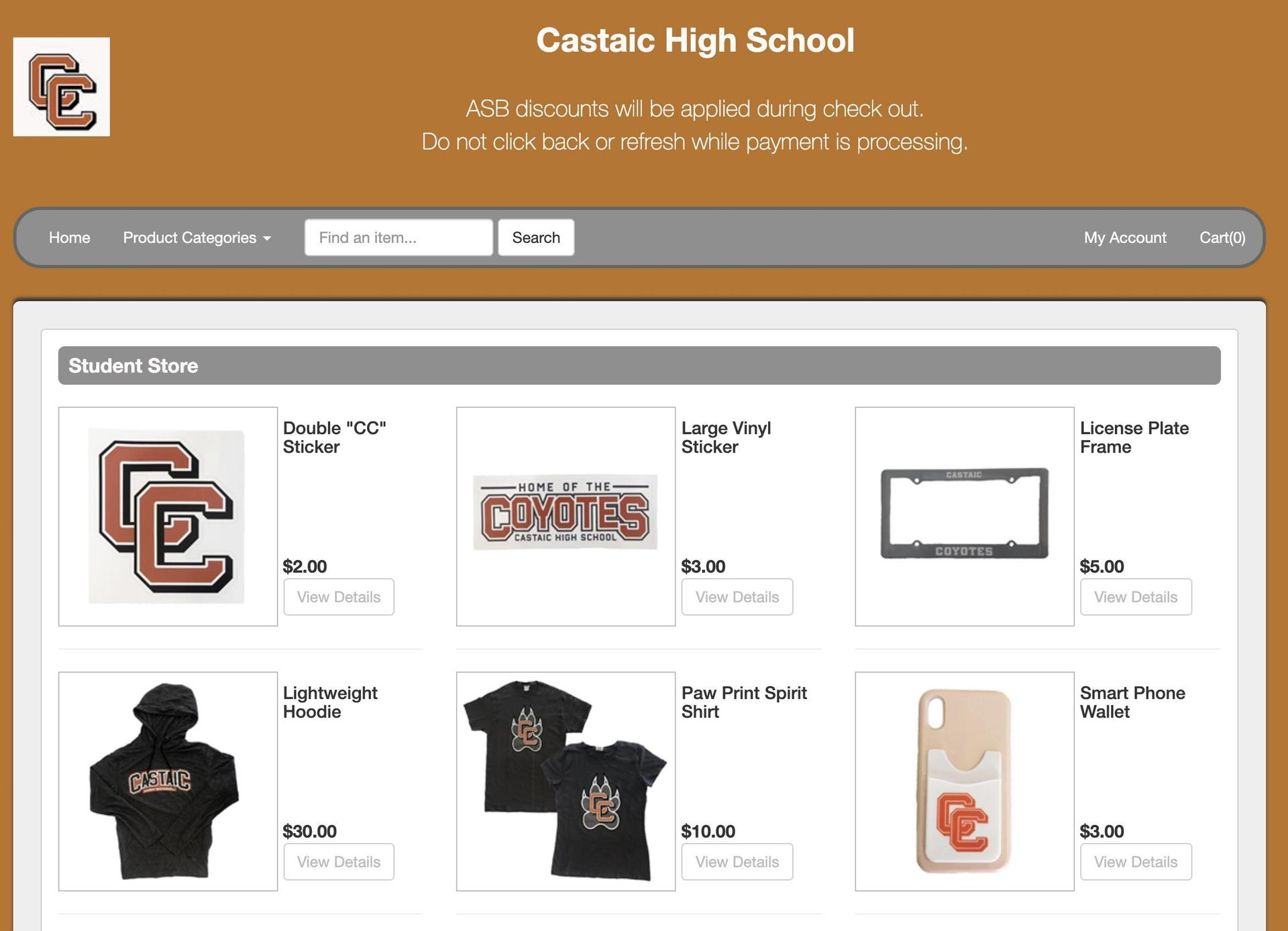 https://castaichighschool.myschoolcentral.com