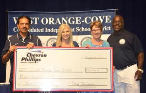 Chevron donates $5,000 to WOCCISD Education Foundation