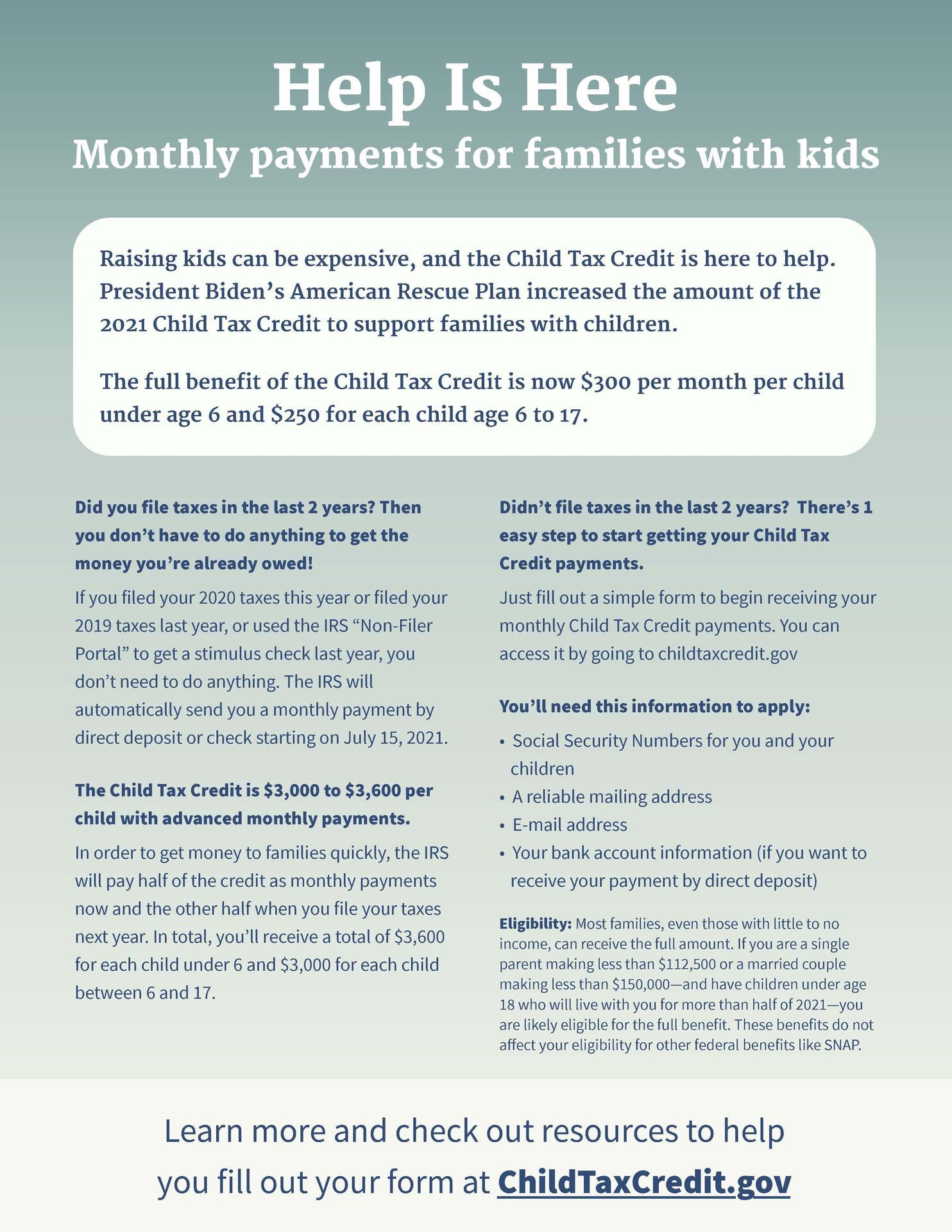 child tax credit information