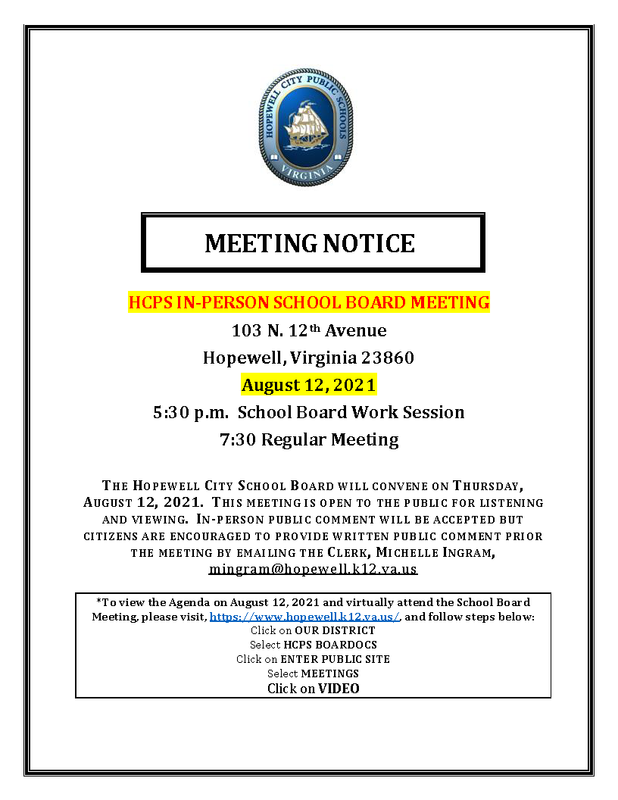 this image is a photo of the board meeting notice