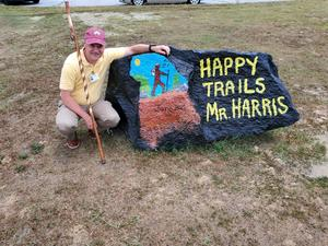 mr. harris with rock
