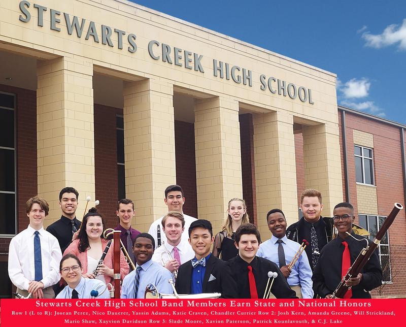 Stewarts Creek High School Band Members earn State and National Honors