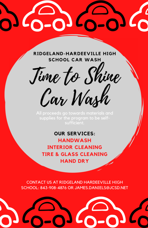 Contact RHHS 'Time to Shine' Car Wash for all of your automotive cleaning needs! Featured Photo