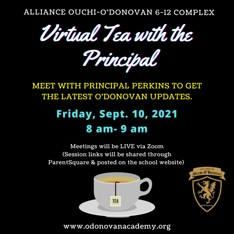 Join us for a Virtual Parent Meeting (Tea with the Principal) - Friday, Sept 10th at 8am Thumbnail Image
