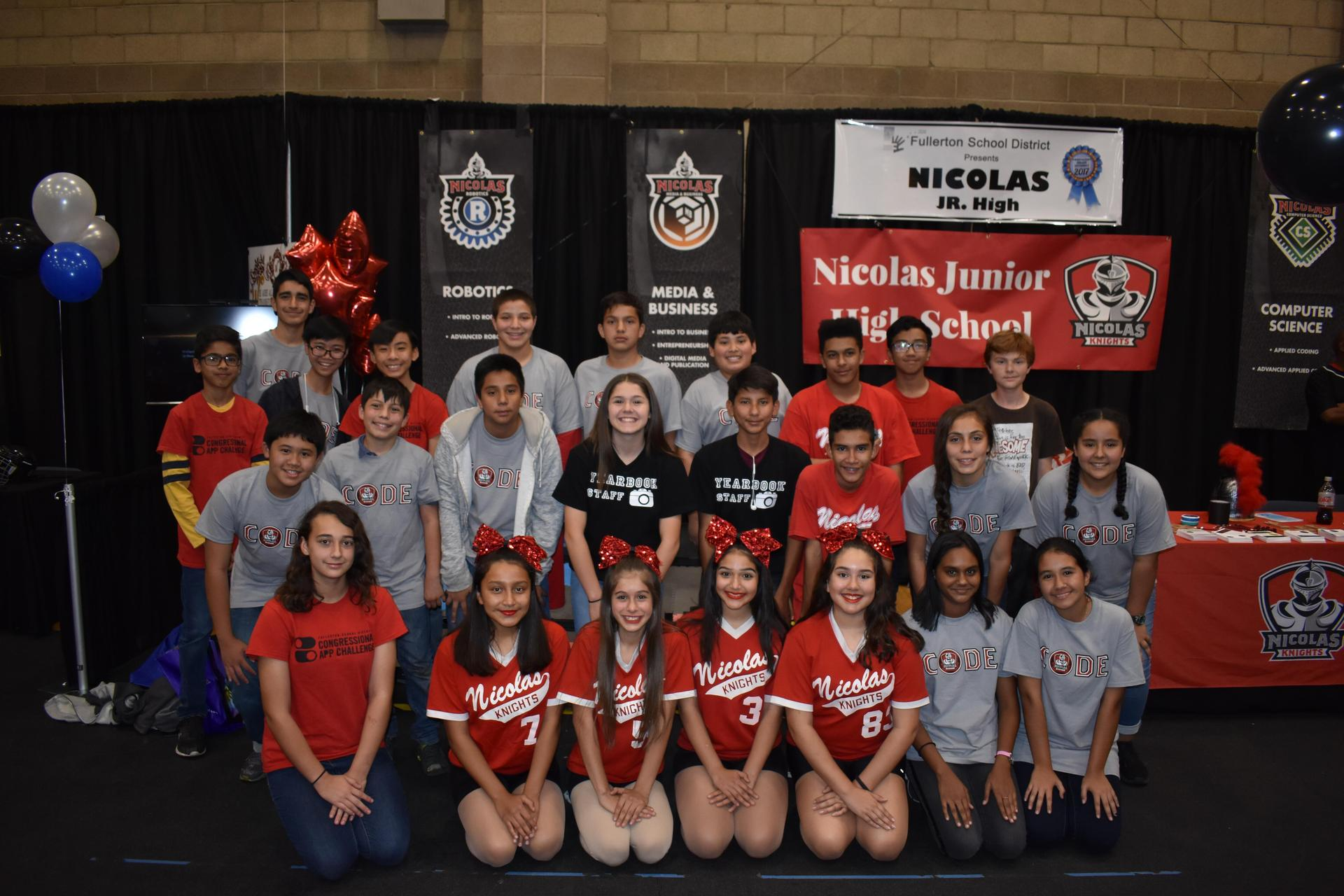 Nicolas students and staff