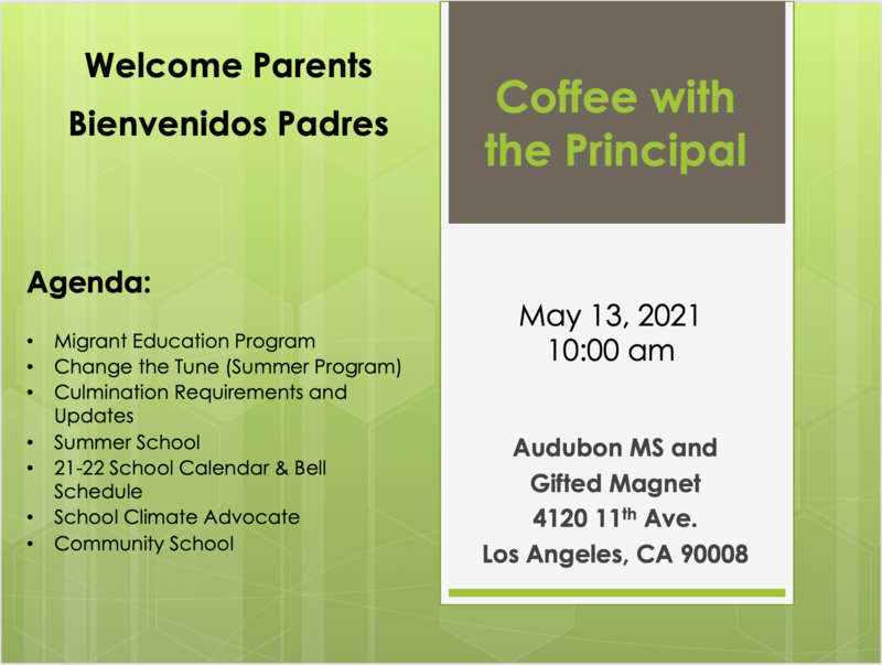Coffee with the Principal - May 13 Featured Photo