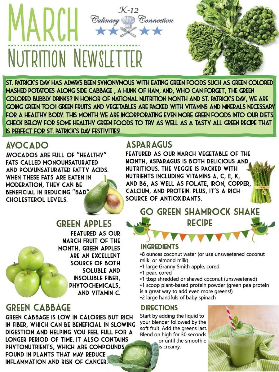 March Nutrition Newsletter