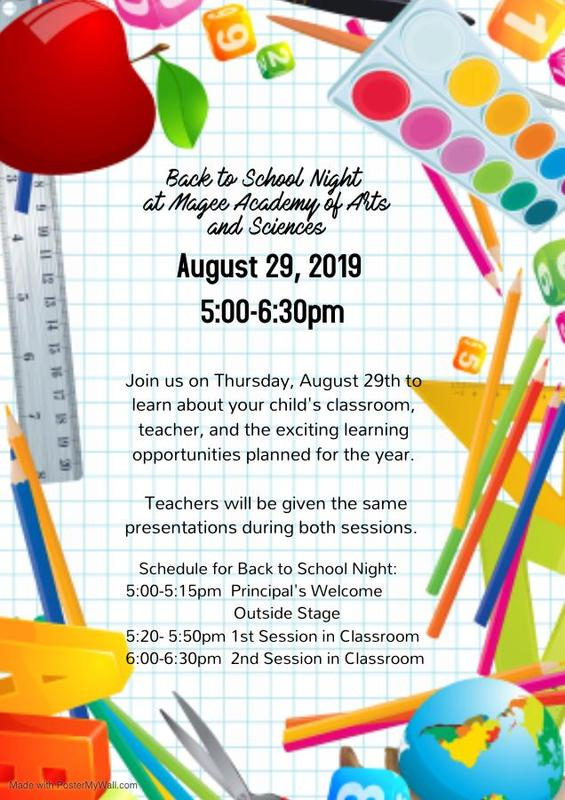Back To School Night Flyer in English