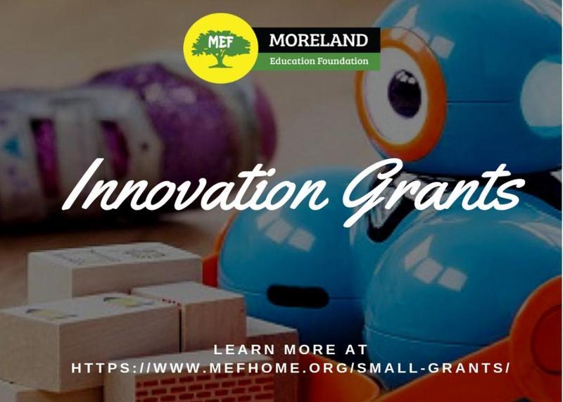 Three Grants Awarded to Moreland Schools Through Moreland Education Foundation (MEF) Thumbnail Image